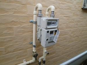 例:メーターガス栓  (開いている)