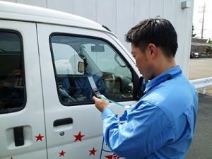 迅速なサービス体制 作業の進捗状況を確認・報告しています