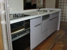 システムキッチン ビルトインコンロ ガスオーブン