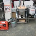 羽村市産業祭 炊き出しステーション及びガス発電機のご紹介(プロパンガスで炊き出し及び発電ができます)