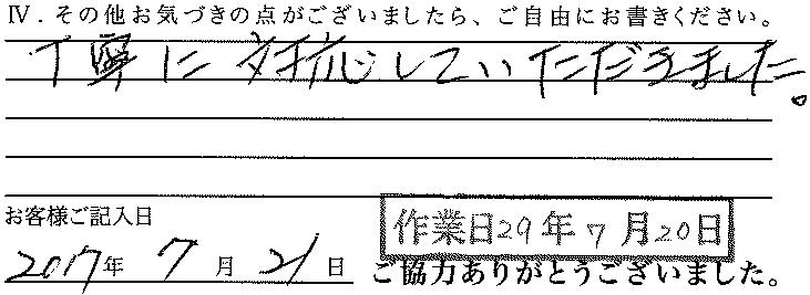 29.7.20納459 アンケートはがき