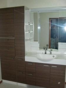 浴室リフォーム 洗面台
