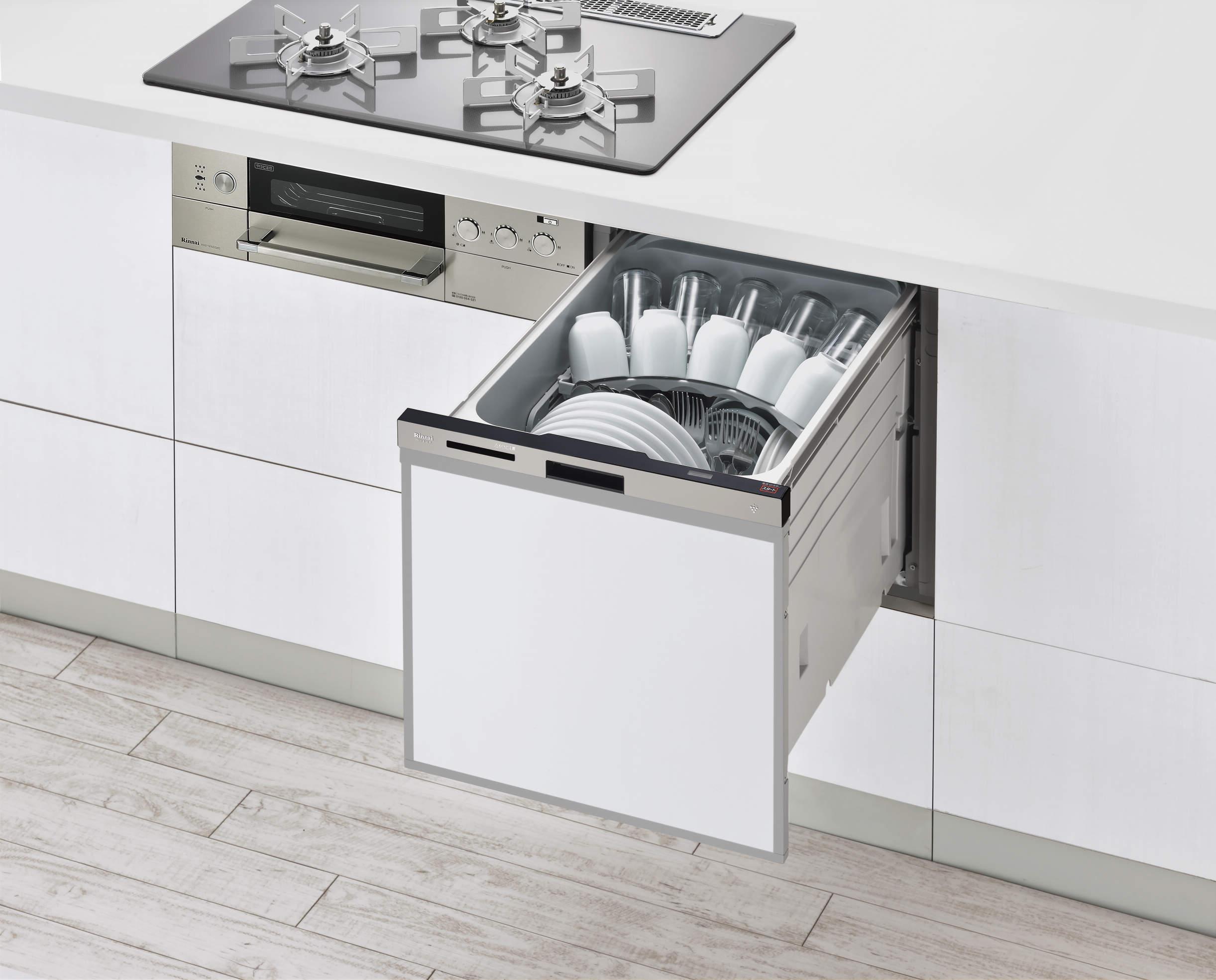 スライドオープン食洗機